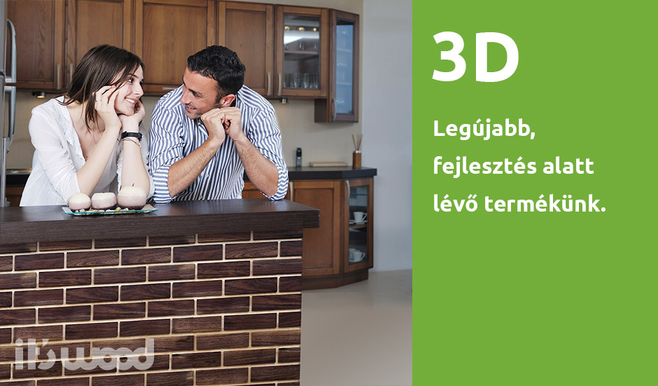 IT'S WOOD 3D tégla hatású fa térépítő elem.